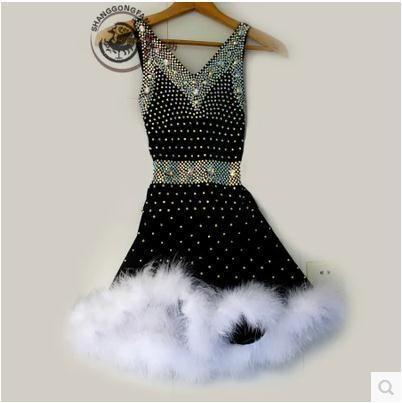 New style Latin tanzkostüm Tiefem v-ausschnitt diamant latin dance wettbewerb kleider für frauen kind latin dance kleider S-4XL