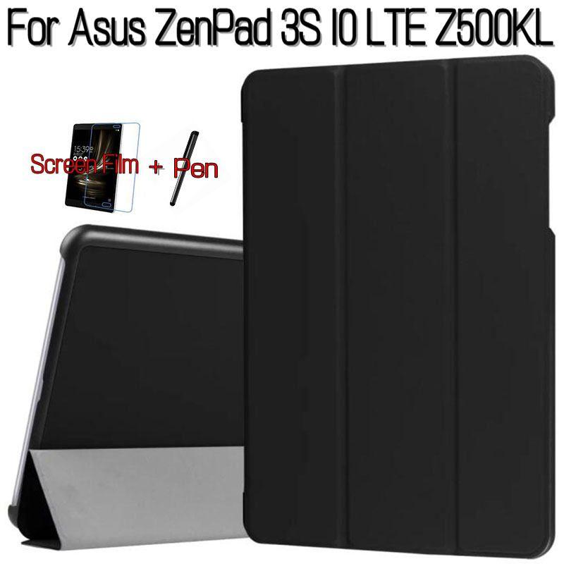 Soporte Elegante magnético de la Cubierta de Cuero de LA PU para Asus Z500KL ZenPad 3 S 10 LTE 9.7