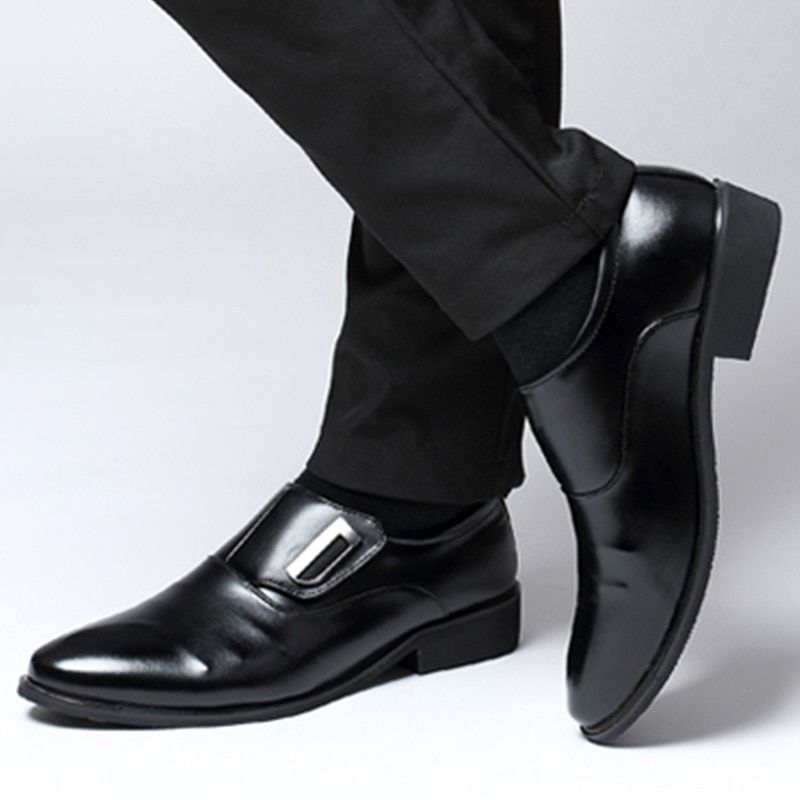 Summer Men Leather Oxford Flat Classic Formal Shoes Pointed Toe Business Lace Up Shoes Black Brown Hombre Plus Size 38-47