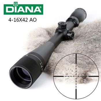 Тактический DIANA 4-16X42 AO Riflescope Mil точечный оптический прицел Охотничья винтовка