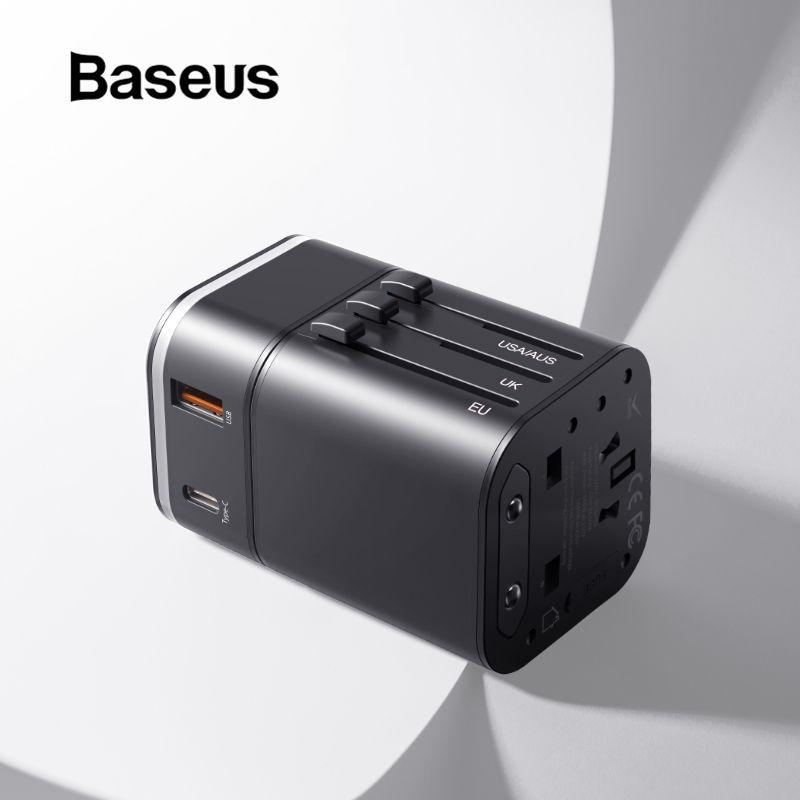 Chargeur USB de voyage Baseus 18 W prise en Charge rapide 3.0 pour Chargeur de téléphone Samsung Chargeur PD 3.0 pour Chargeur USB iPhone