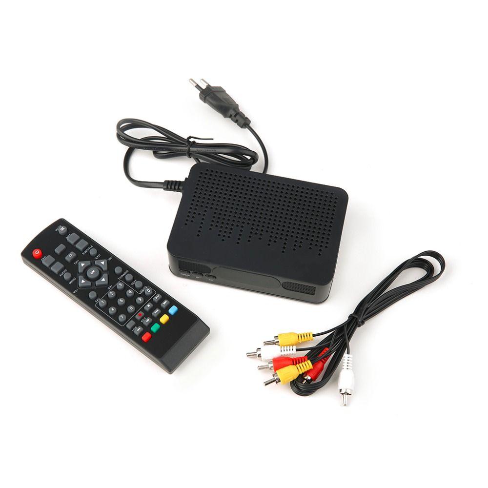 2018 New High Definition Digital Video Broadcasting Terrestrial Receiver DVB-T2 Black Drop Shipping
