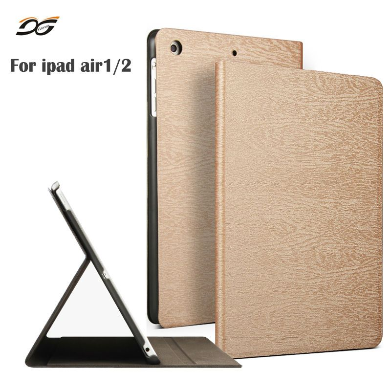 For New 2018 iPad Air 1 Air 2 9.7inch 2017 Ecology PU Leather Folio Case Stand with Auto Sleep/ Wake for iPad A1822 A1893 A1566