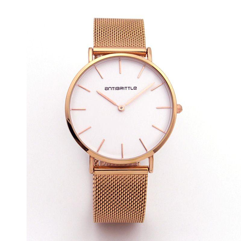 Japon Quartz or Rose maille minimaliste montre femmes Ultra mince en acier inoxydable aimant bracelet anticassant montre-bracelet marque classique