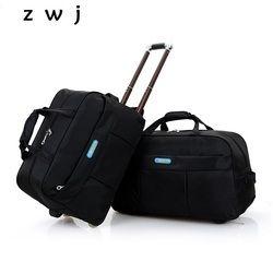 Murah jual pria membawa pada kabin bagasi koper besar pada roda troli tas travel pria
