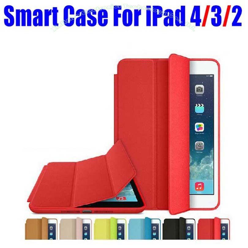 1 pc Marque Nouvelle Mode officiel Smart Case Pour Apple iPad 4/3/2 Ultra mince Filp Couverture cas + Écran Film NO: i4001