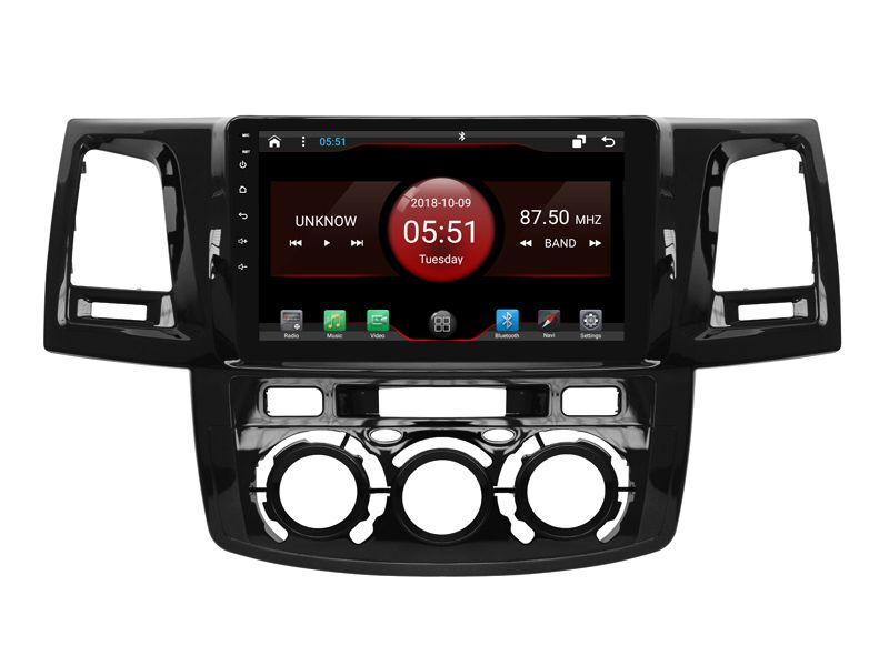 64 GB rom 8 kerne Android 8.1.2 auto GPS für TOYOTA Hilux 2012 MT touchscreen radio DSP stereo navigation carplay multimedia FM
