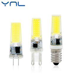 YNL 2017 Neue Led-lampe G4 G9 E14 AC/DC 12 V 220 V 3 Watt 6 Watt 9 Watt COB LED G4 G9 Birne Dimmbar für Kristall Kronleuchter Lichter