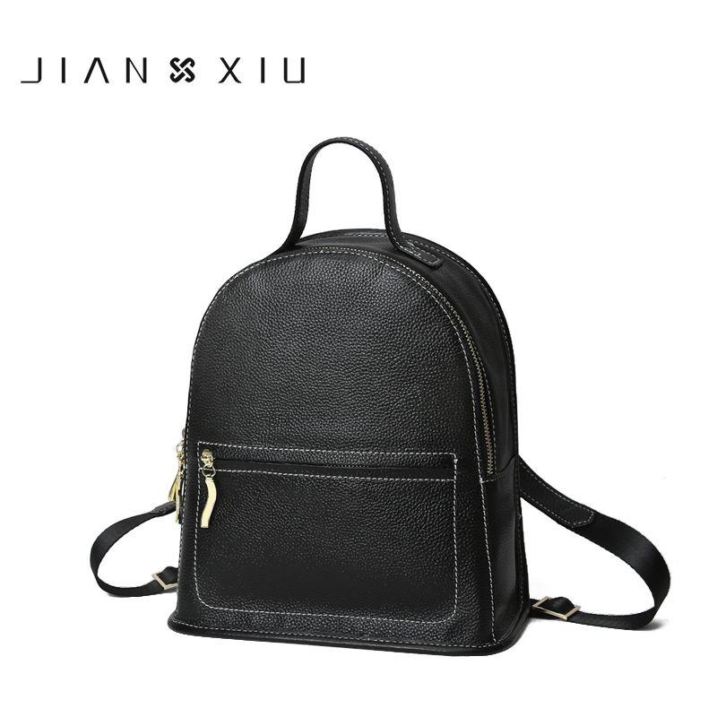 JIANXIU Brand Backpack Mochila Feminina Mochilas School Bags Women Bag Genuine Leather Backpacks Travel Bagpack Mochilas Mujer