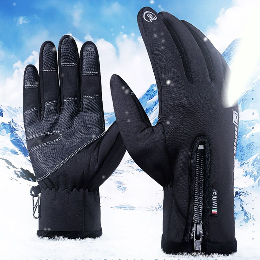 Winter Women Guantes Brand Gloves Touched Screen Windproof Male anti-skid Gloves Waterproof Warm Men Gloves New