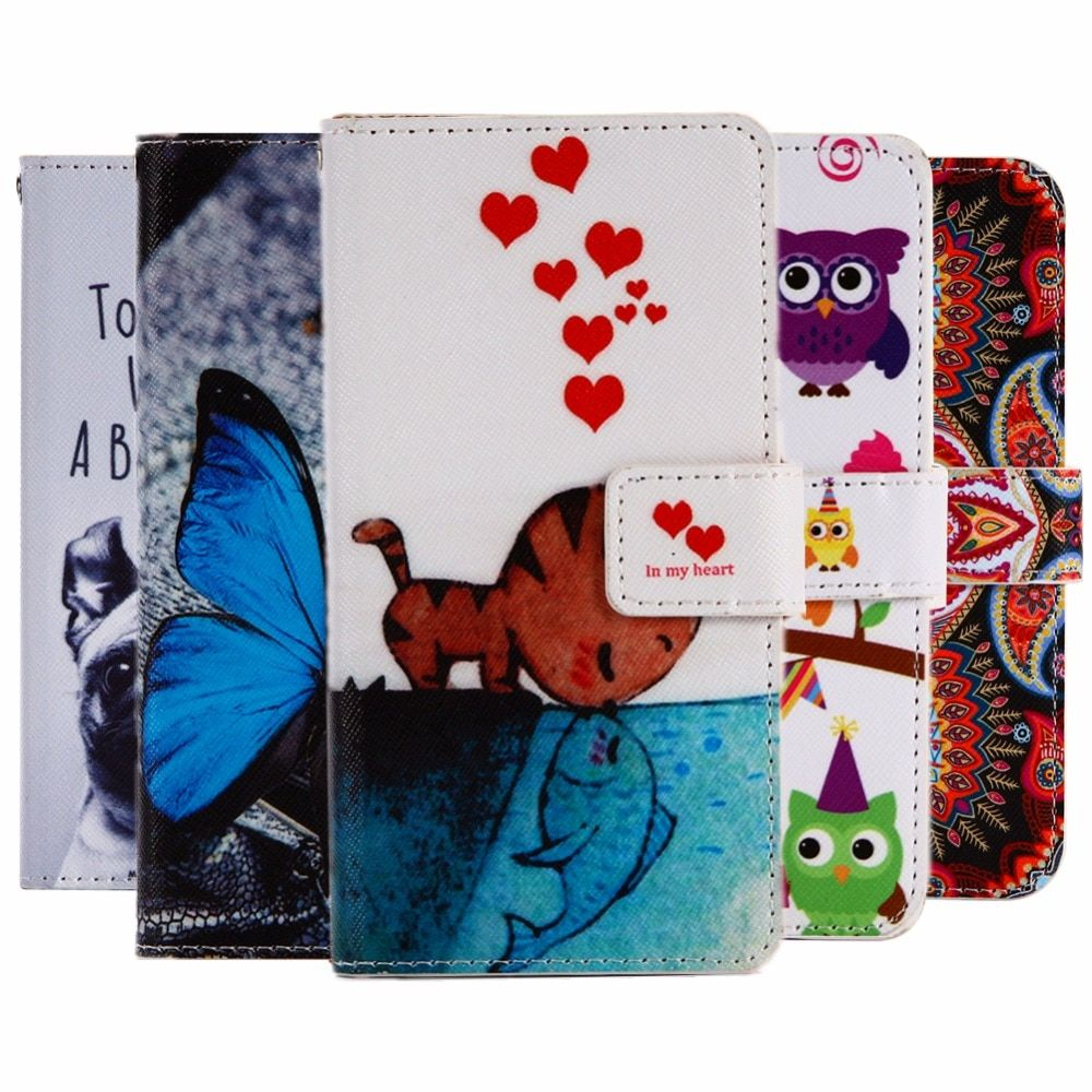 GUCOON Cartoon Wallet Case for Cubot Note Plus 5.2inch Fashion PU Leather Lovely Cool Cover Cellphone Bag Shield