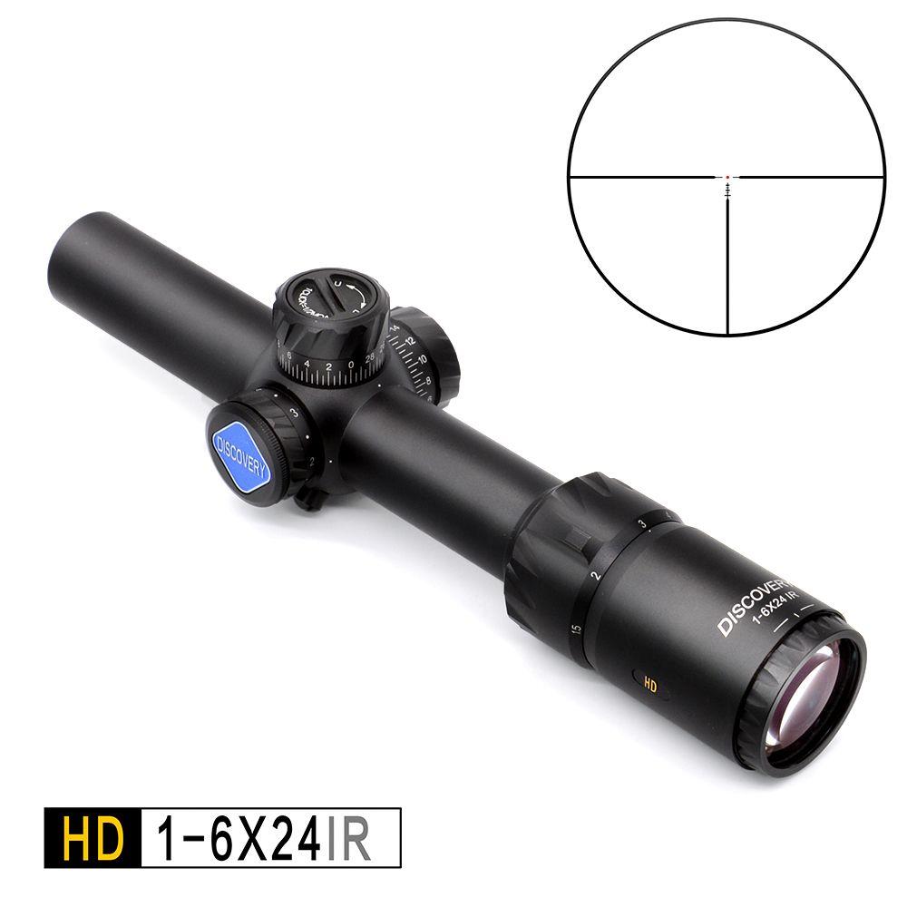 Entdeckung HD 1-6X24 IR Lang Augen Relief Jagd Zielfernrohr Taktische optical sight Beleuchtet R & G Zielfernrohr fit 30 -06 308 AR15