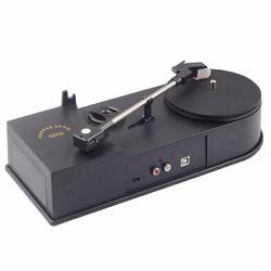 USB Portable Mini Vinyl Turntable Audio Player Vinyl Turntable to MP3/WAV/CD Converter Mini Phonograph Turntable Record EC008B