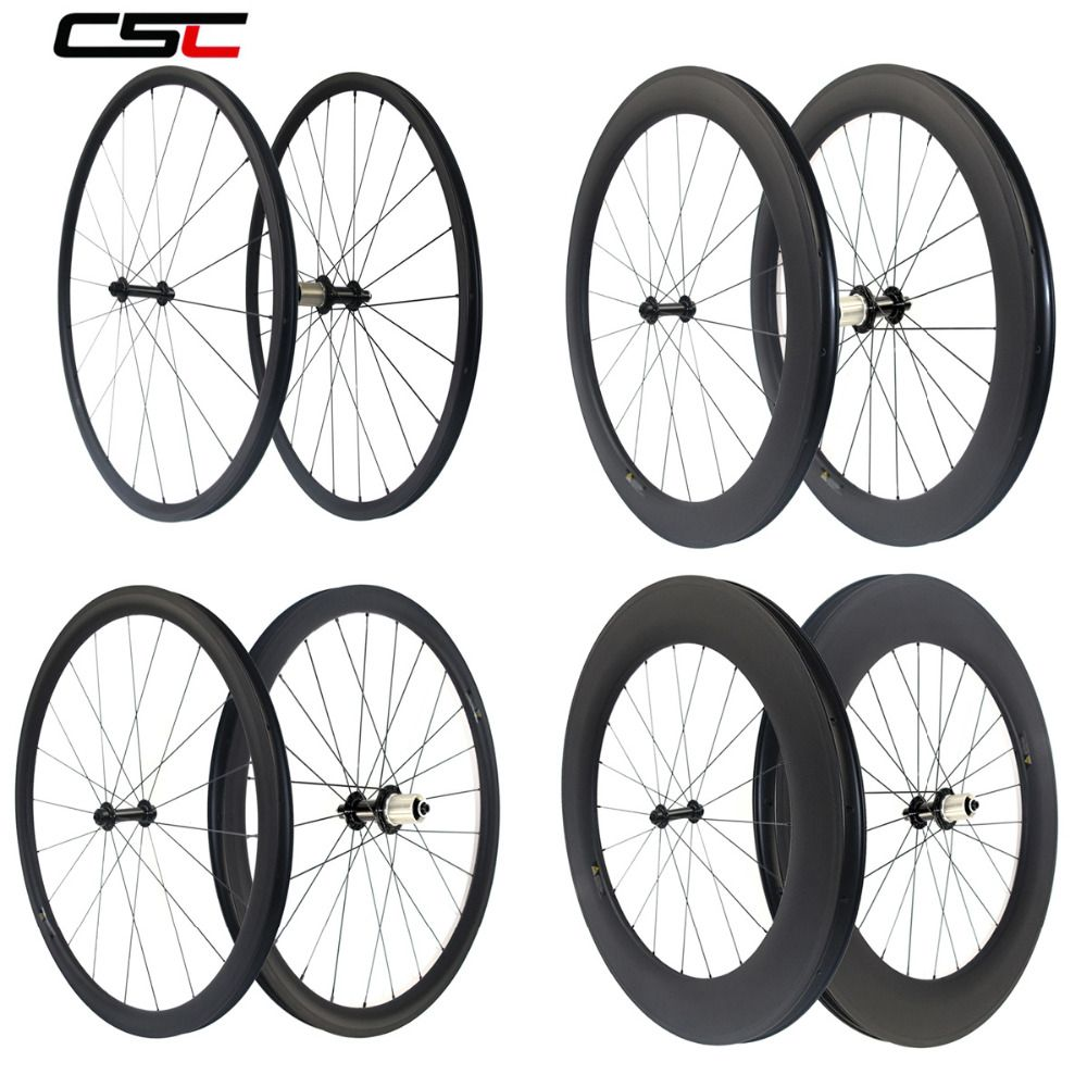 Super light Powerway R13 carbon bicycle wheelset 24 38 50 60 88mm depth clincher tubular road bike wheels AS511SB FS522SB hub