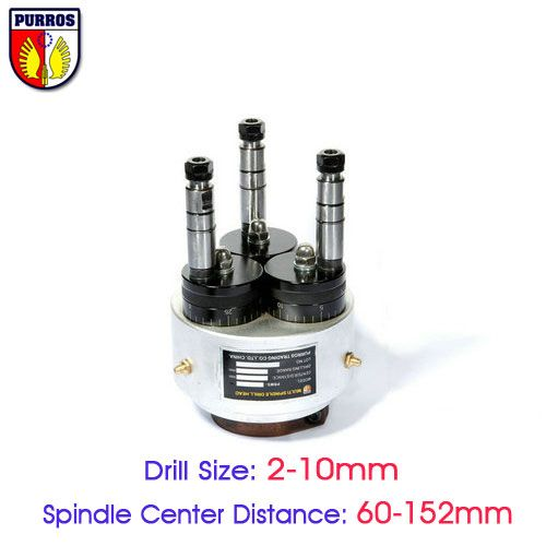 Adjustable Three Spindle Drill Heads, Spindle Center Distance:60 to 152mm, Multiple Spindle Drilling Heads, Multi Spindle Heads