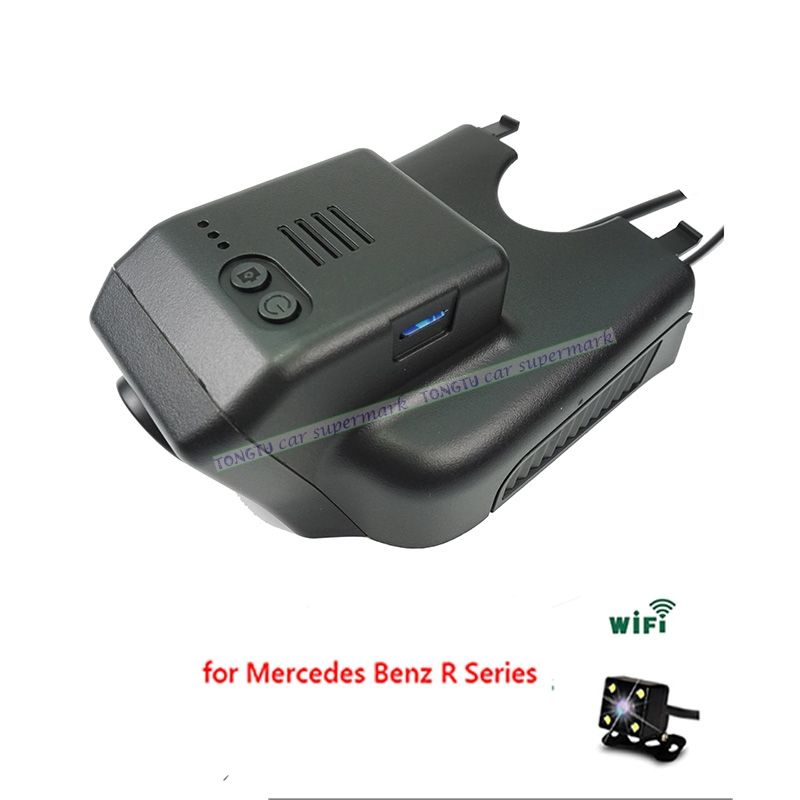 Dual Lens Novatek 96655 Sony IMX322 Car Wifi DVR for Mercedes Benz R 2015 ML GL w164 x164 2006-2012 Hidden Installation
