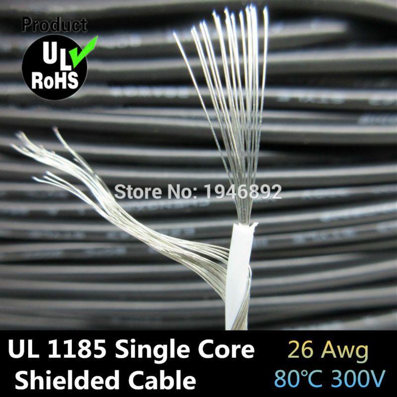 Haute Qualité UL1185 26AWG Simple Core Conducteur En cuivre Étamé Sprial Blindé audio câble Haut-Parleur ugs a +