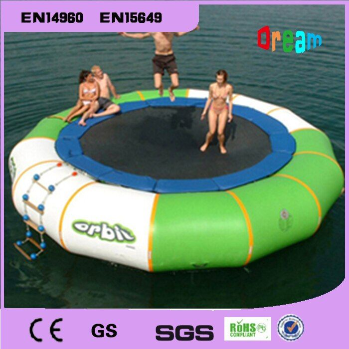 Free Shipping Dia 3m 0.9mm Inflatable Water Trampoline Water Jumping Bed Jumping Trampoline(free 1 blower)