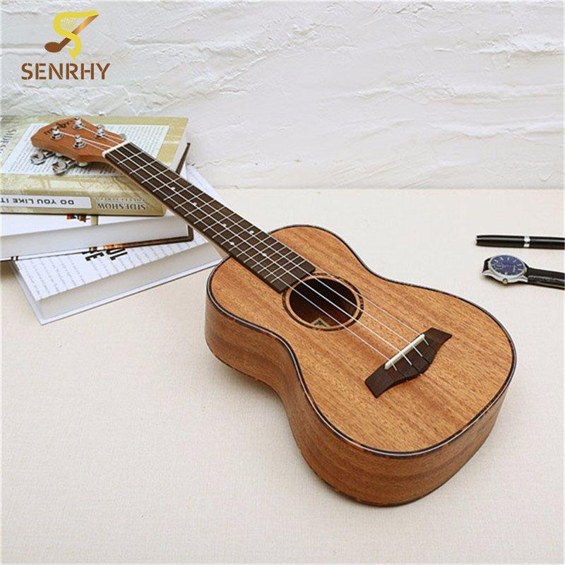 23 Pouce 4 Cordes Ukulele Acajou Touche Palissandre & Pont Guitare Instrument de Musique Pour Guitare Musique Amoureux Cadeau