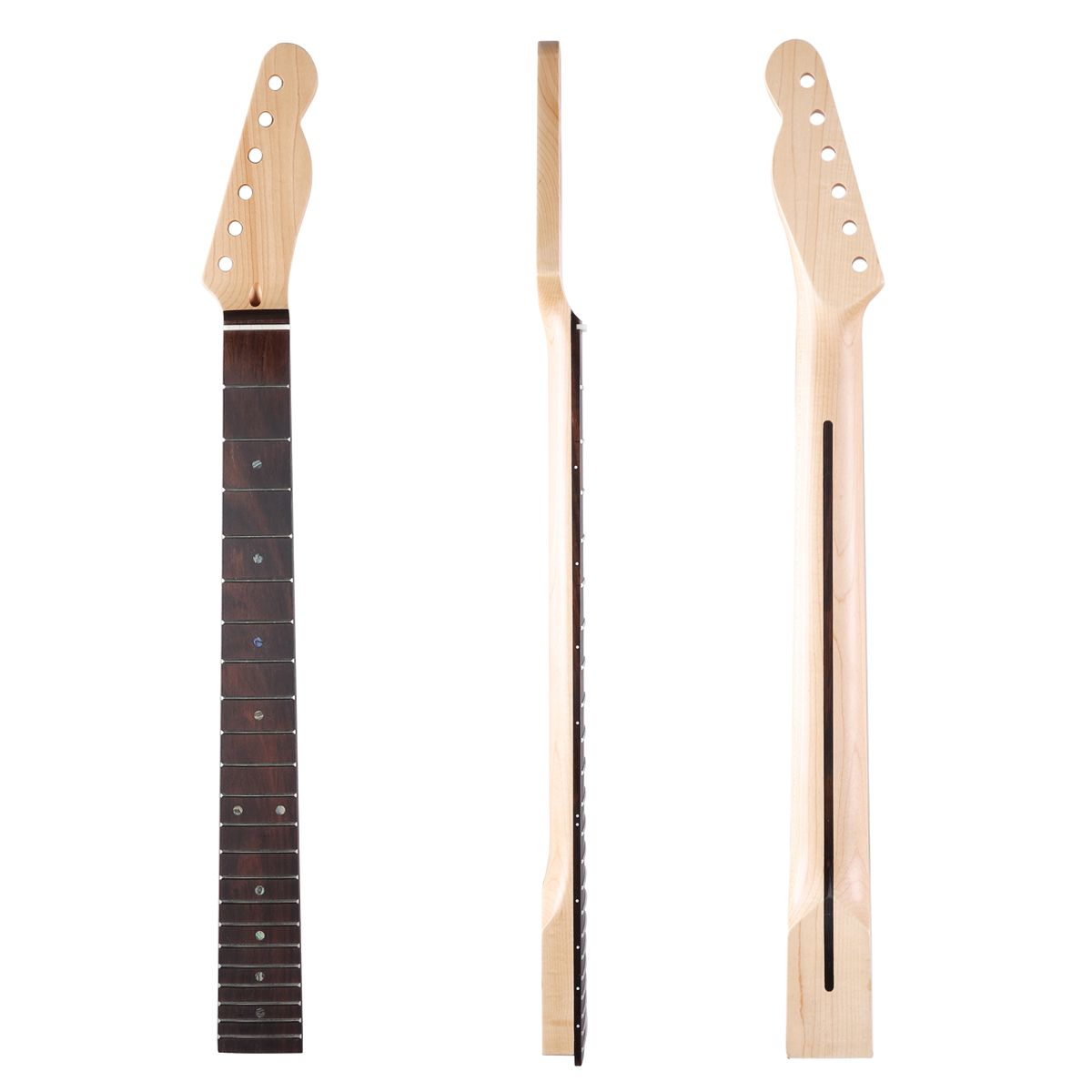 Dopro 22 Fret Canadian Maple Tele Guitar Neck with Rosewood Fingerboard Abalone Inlay and Bone Nut for Telecaster