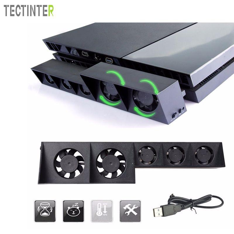 Для PS4 игры консоли аксессуары вентилятор охлаждения для sony Игровые приставки 4 Host кулер Внешний Turbo Контроль температуры вентилятор