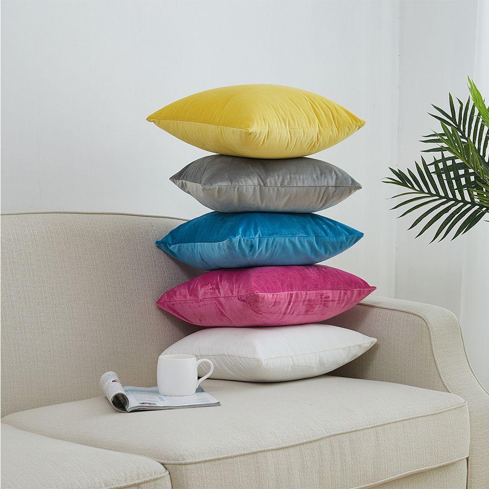 Housse de coussin en tissu velours 30x50/40x40/40x60/50x50/55x55/60x60cm taie d'oreiller décorative super douce nouvelle