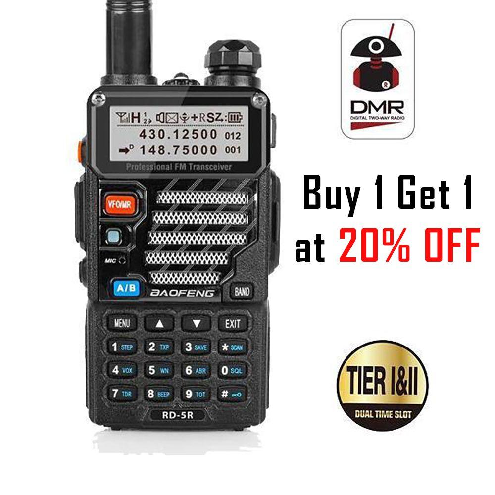 Baofeng RD-5R DMR Tier II VFO Digitale Dual Band Dual Slot 136-174/400-470 MHz Two way Radio walkie Talkie Ham Transceiver