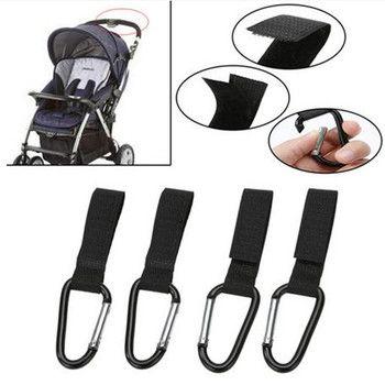 4 teile/satz Kinderwagen Haken Rollstuhl Kinderwagen Pram Wagen Tasche Aufhänger Haken Baby Kinderwagen Einkaufstasche Clip Kinderwagen Zubehör
