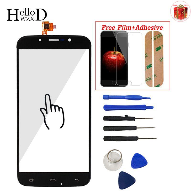 Für UMI ROM/ROM X Touch Screen Glas Digitizer Panel Frontglas Objektiv Sensor Flex Werkzeuge Kleber + Screen Protector Geschenk