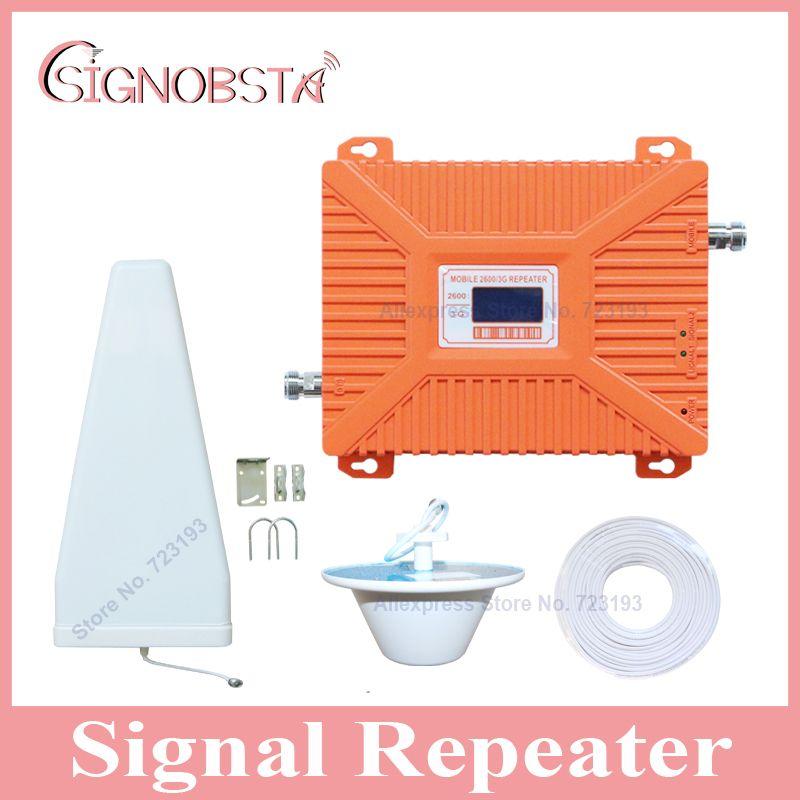 Hohe qualität LCD-display handy dual band 3g 4g repeater handy w-cdma 2100 mhz UMTS 4g LTE 2600 mhz booster verstärker