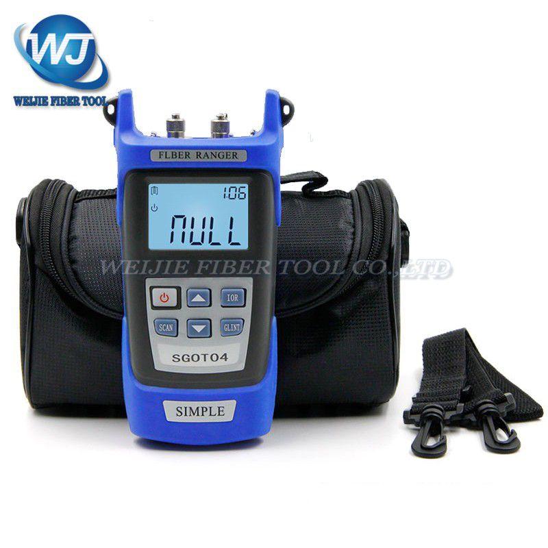 De poche OTDR 60 KM Fiber De trouver faute testeur 1310 ou 1550nm SGOT04 Fiber De point d'arrêt détecteur de défaut avec VFL FC/SC Connecteur