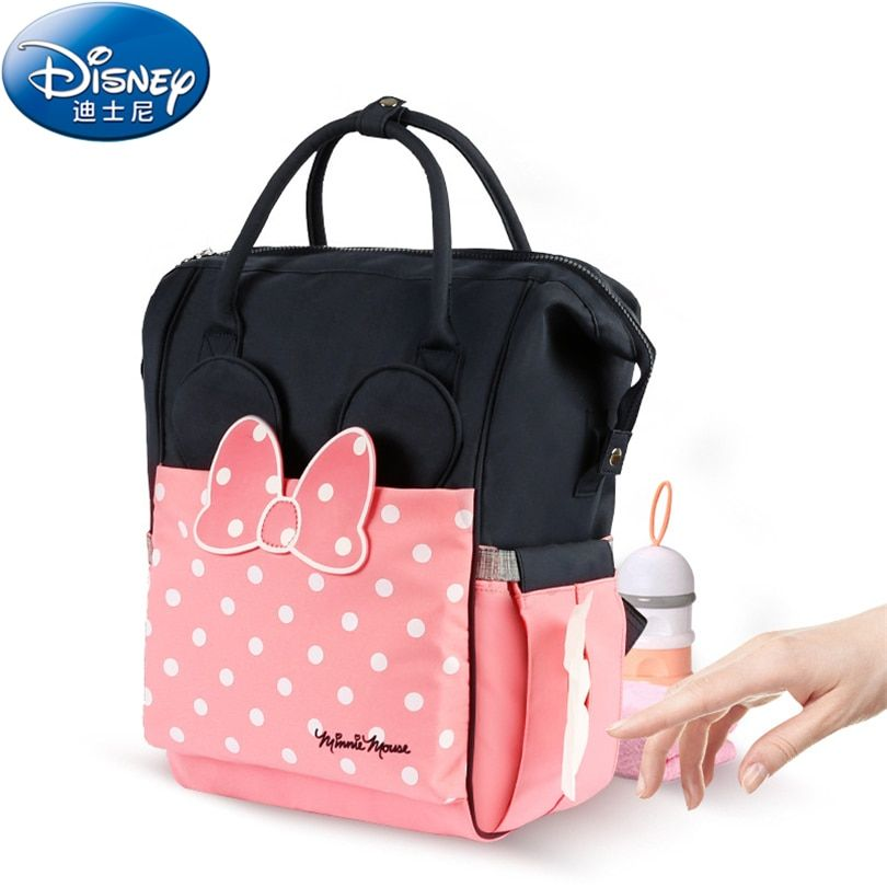 Disney 2018 Thermal Insulation Bag High-capacity Baby Feeding Bottle Bags Backpack Baby Care Diaper Bags Oxford Insulation Bags