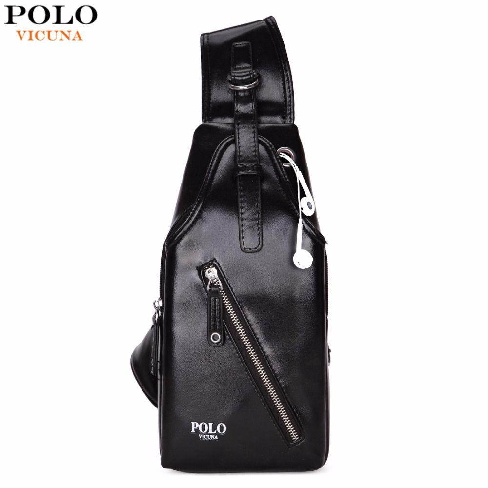 VICUNA POLO Fashion Leather Men Crossbody Bag Classic Simple Design Men Shoulder Bags Brand Man Messenger Bags Sling bag New