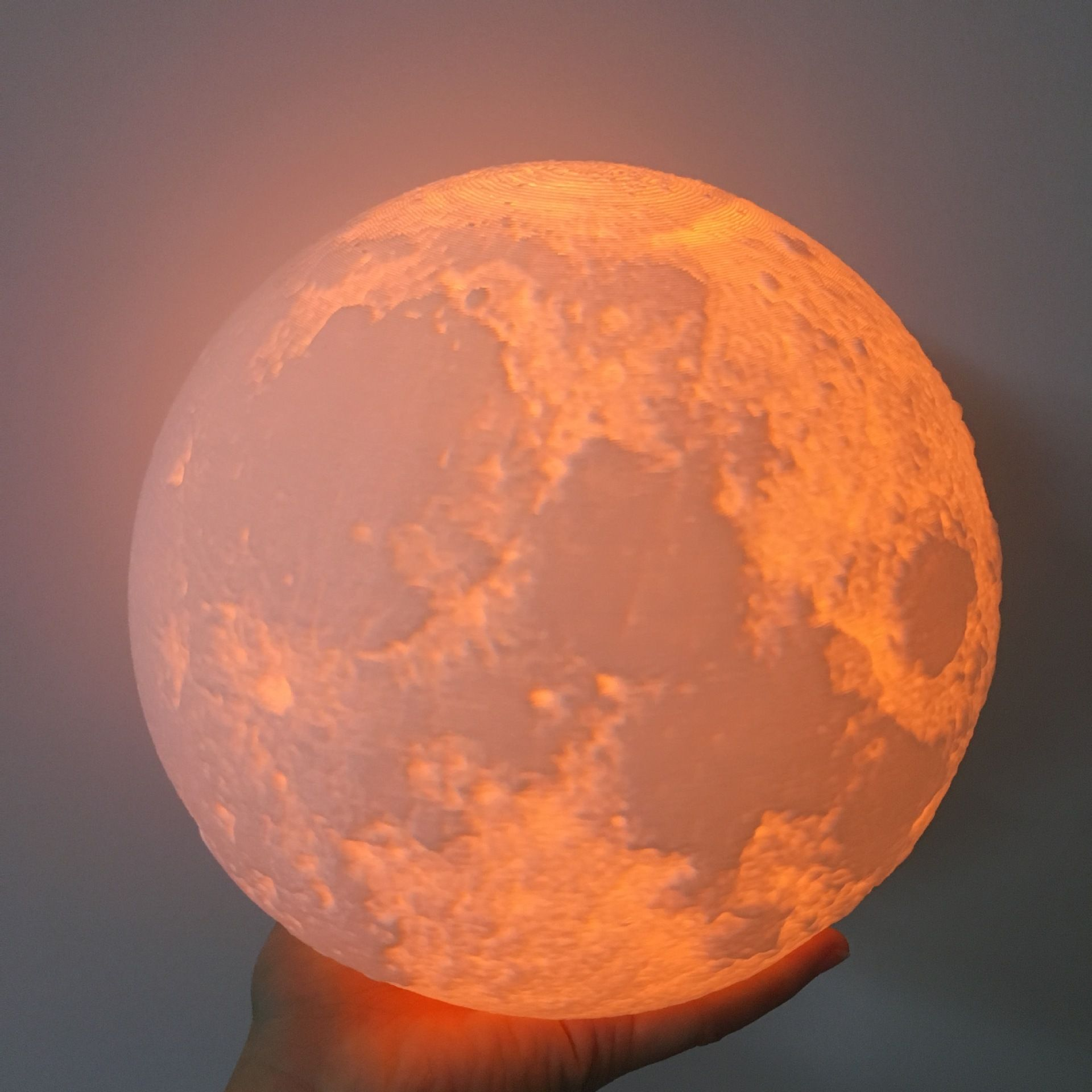 Customized 24cm 3D Magical Moon Night Light Smart Romantic Moonlight Remote Control USB Charge Desk Lamp Bedside IY303170-24