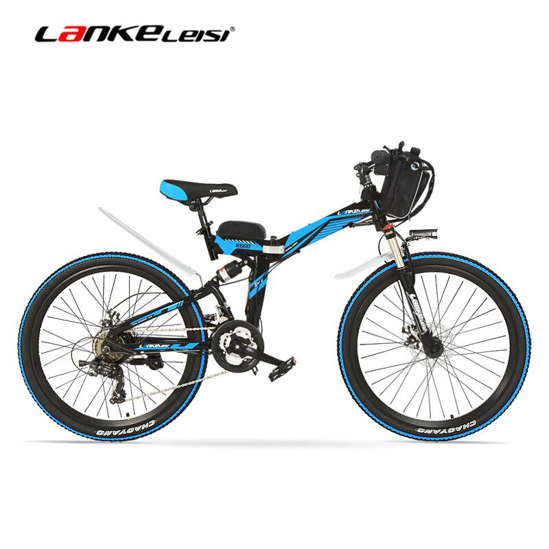 K660D Starke Leistungsfähige E Bike, 500/240 W Motor, Full Suspension High-carbon Stahl Rahmen, falten Elektrische Fahrrad, Disc Bremse.