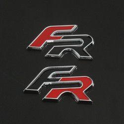 3D FR logo metal car side Fender cola Adhesivos emblema para seat leon FR Cupra Altea Exeo Racing divisa del coche