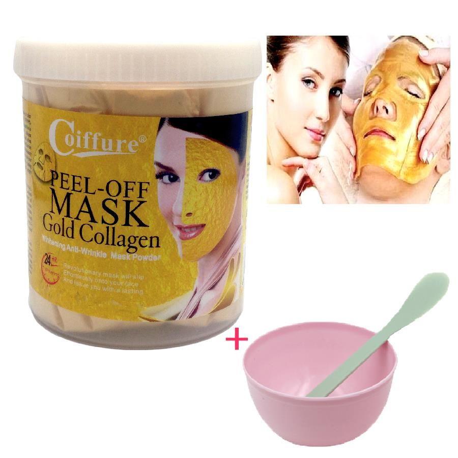 300g 24 K or masque poudre Active or cristal collagène perle poudre masques faciaux mascara visage Anti vieillissement blanchissant + masque bol