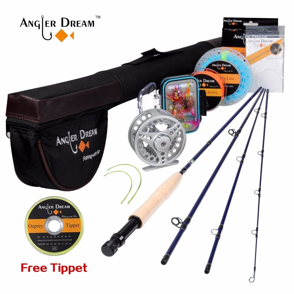 New Streamer Trout Fly Rod 8'4'' 2.5m Portable Travel Telescopic Rod Fly Fishing Pole 3/4WT Metal Reel Set Fly Fishing Rod Combo