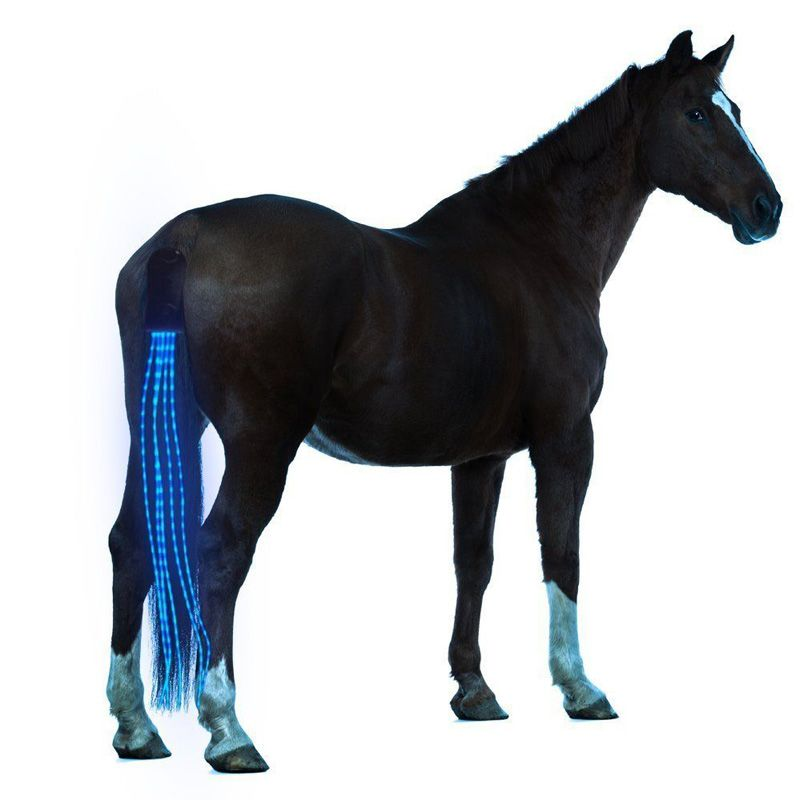 New 100CM Horse <font><b>Tail</b></font> USB Lights Chargeable LED Crupper Horse Harness Equestrian Outdoor Sports The Lights Horse <font><b>Tail</b></font>