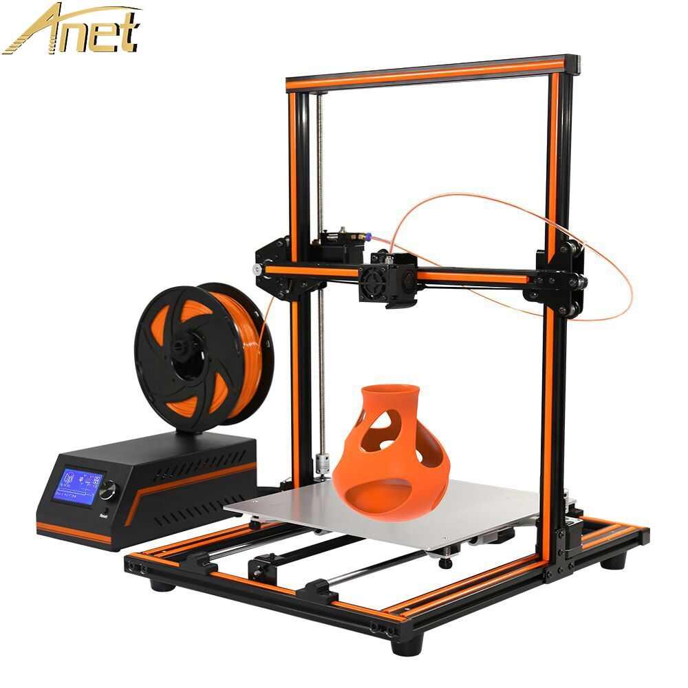 Anet E12 E10 Large 3D Printer Update Threaded Rod High Precision Reprap Prusa I3 Impresora 3D Printer Large 3D 10m PLA Filament