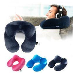 U-образная дорожная подушка для самолета надувная подушка для шеи дорожные аксессуары 4 цвета удобные подушки для сна домашний текстиль
