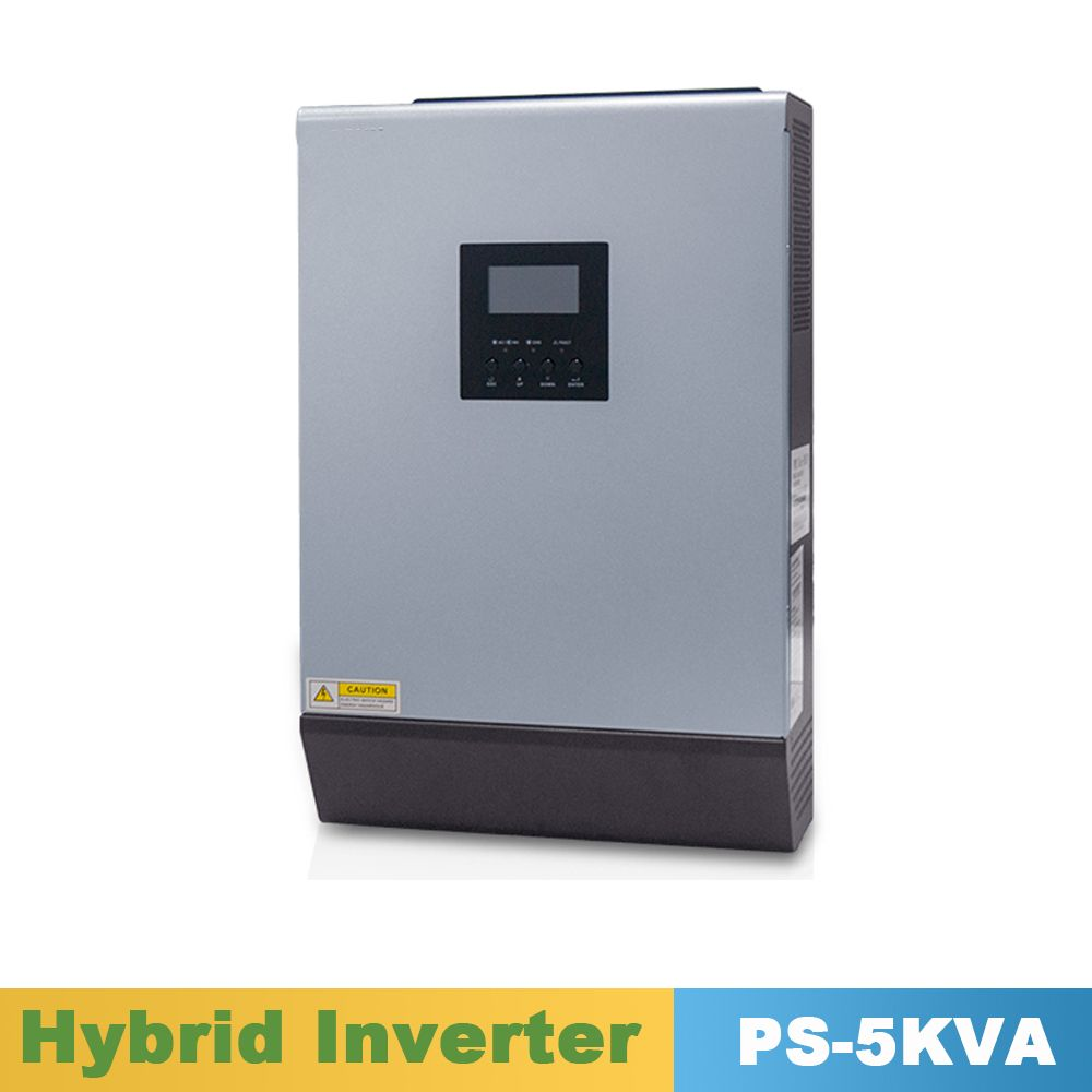 5000VA 4000W Pure Sine Wave Inverter Hybrid Inverter 48VDC Input 220VAC Output with PWM Solar Charger Controller 50A