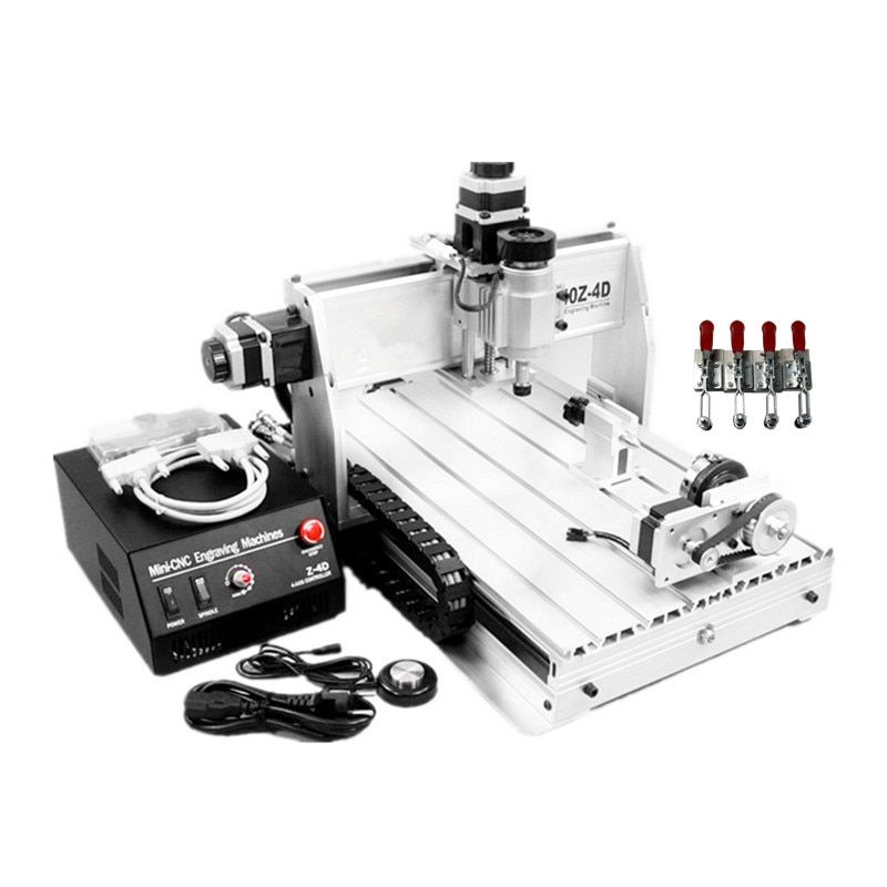 3 axis 300W spindle cnc machine 3040 ER11 collet wood carving router 400*300mm