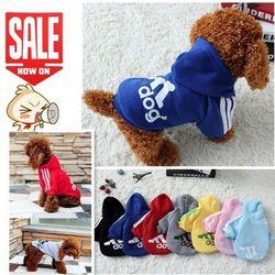 Otoño Invierno ropa para perros mascotas gato abrigos chaqueta Soft algodón Hoodies Puppy ropa para perros pequeños Chihuahua productos para mascotas