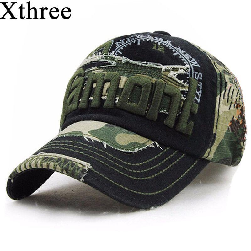 Xthree unisex camouflage baseballmütze swag kappe Casual Outdoor Sport hysteresenhut für männer Kappe frauen gorra casquette Großhandel