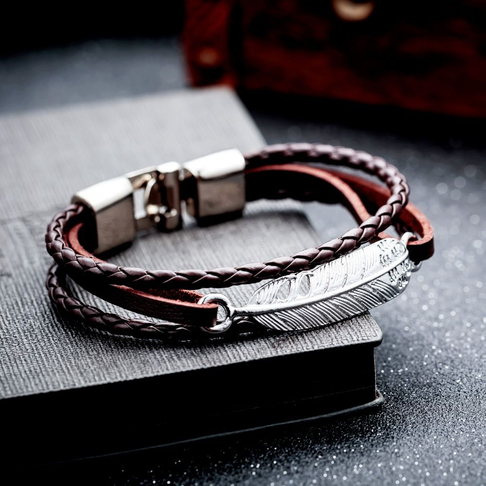 AZIZ BEKKAOUI Fashion Gift Jewelry for Women Men Love Leather Jewelry Promise Bands Valentine's Day Summer Jewelry