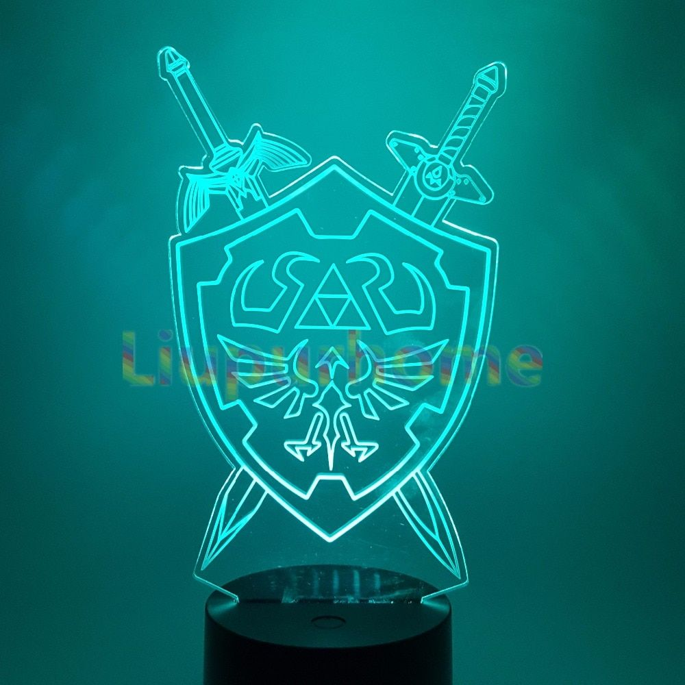 3D Night Lights The Legend of Zelda Table Lamp Anime Game Breath of the Wild Visual Illusion Led Luces Navidad 3D43