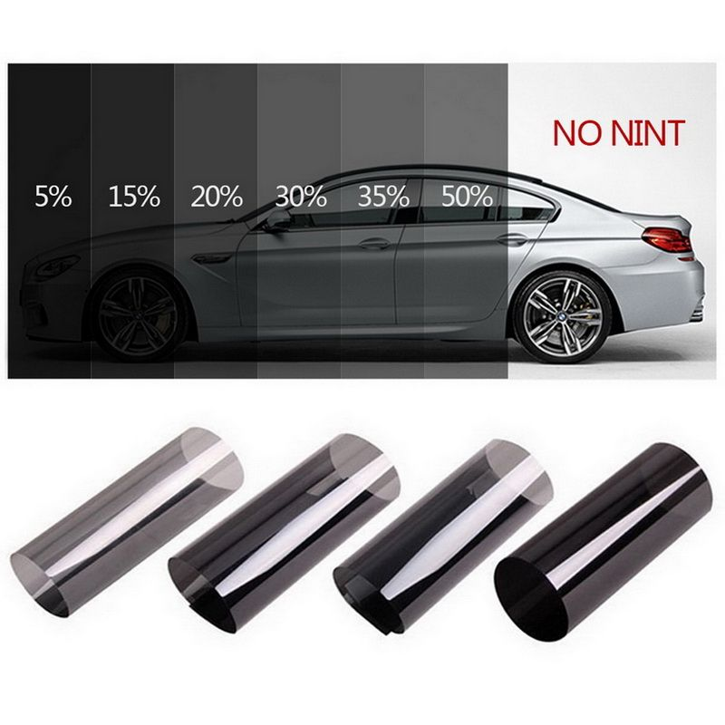 0.5mx3m Dark Black Car Window Tint Film Roll Glass Cars Auto Solar Protection Summer For Car Side Window Home Glass With Scraper