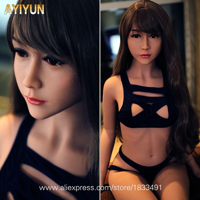 AYIYUN Leben Größe Japanischen Stil Realistische Sex Puppe Silikon Spielzeug Für Erwachsene für Männer Liebe Puppe Medizinische TPE mit Skeleton KEINE geruch