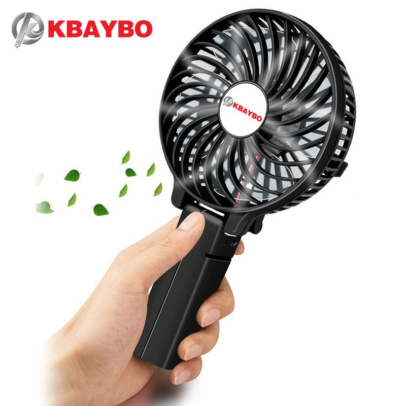 <font><b>Foldable</b></font> Hand Fans Battery Operated Rechargeable Handheld Mini Fan Electric Personal Fans Hand Bar Desktop Fan